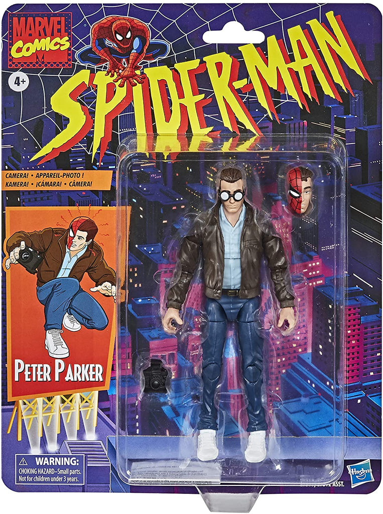 Spider-Man Retro Marvel Legends 6-Inch Peter Parker Action Figure 5010993715473