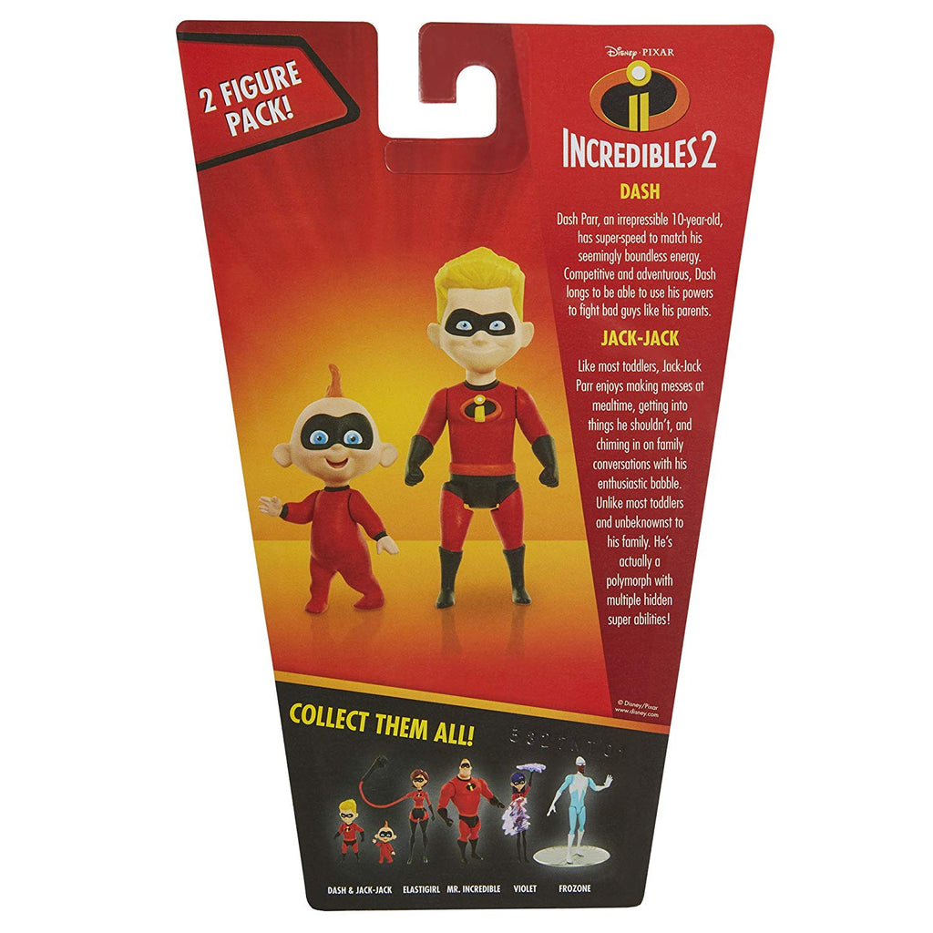 The Incredibles 2 Dash and Jack-Jack 4 Inch Action Figure 039897748092