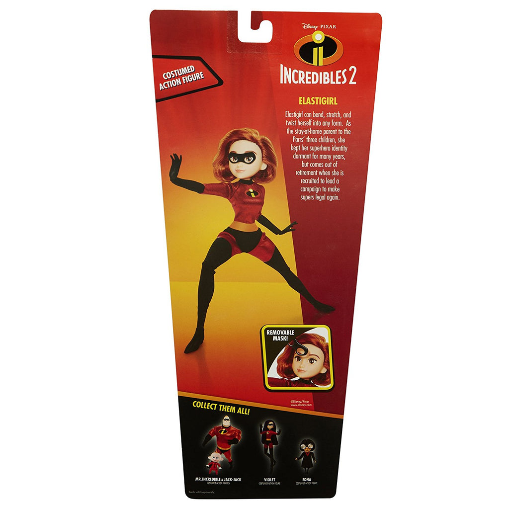 "The Incredibles 2 Elastigirl in Deluxe Costume and Mask 11"" Action Figure Articulated Doll 039897765877"