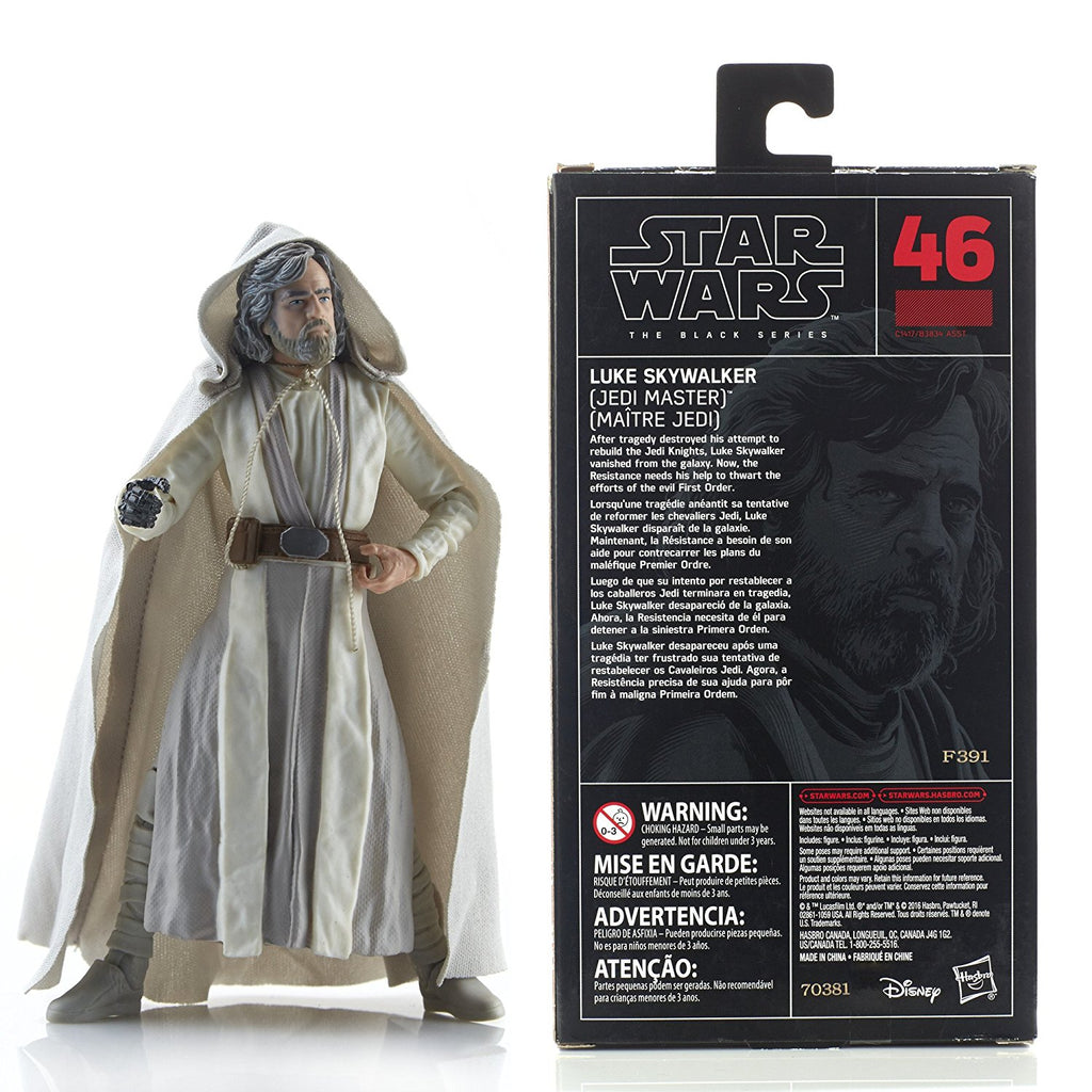 Star Wars The Black Series Episode 8 Luke Skywalker (Jedi Master), 6-inch box back