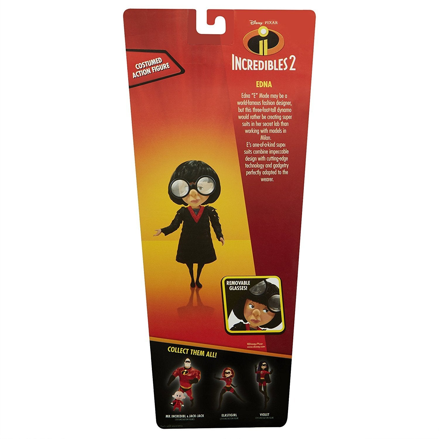 The Incredibles 2 Edna Deluxe Costume And Glasses Action Figure Quest Toys