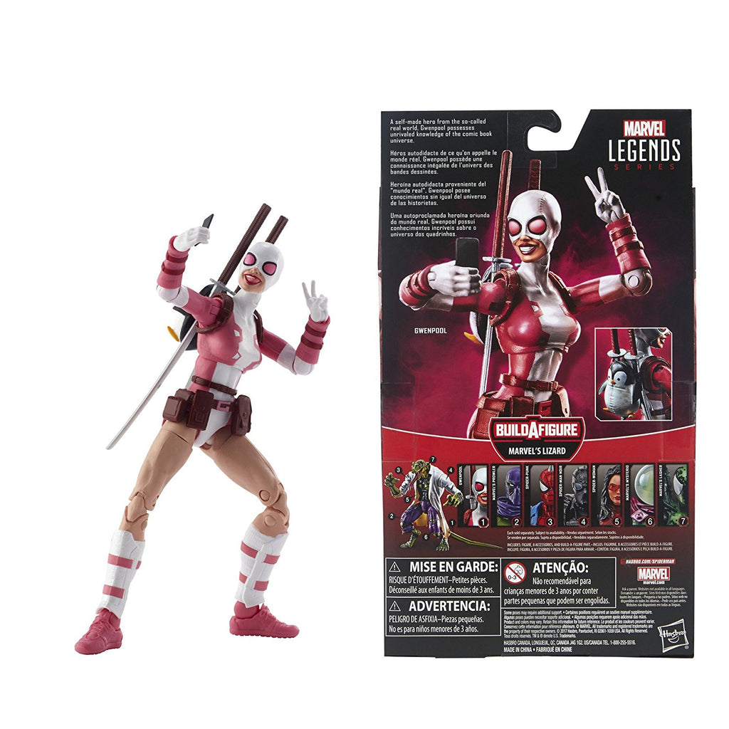 Marvel Legends Spider-Man Gwenpool Action Figure, 6 Inch 630509619184