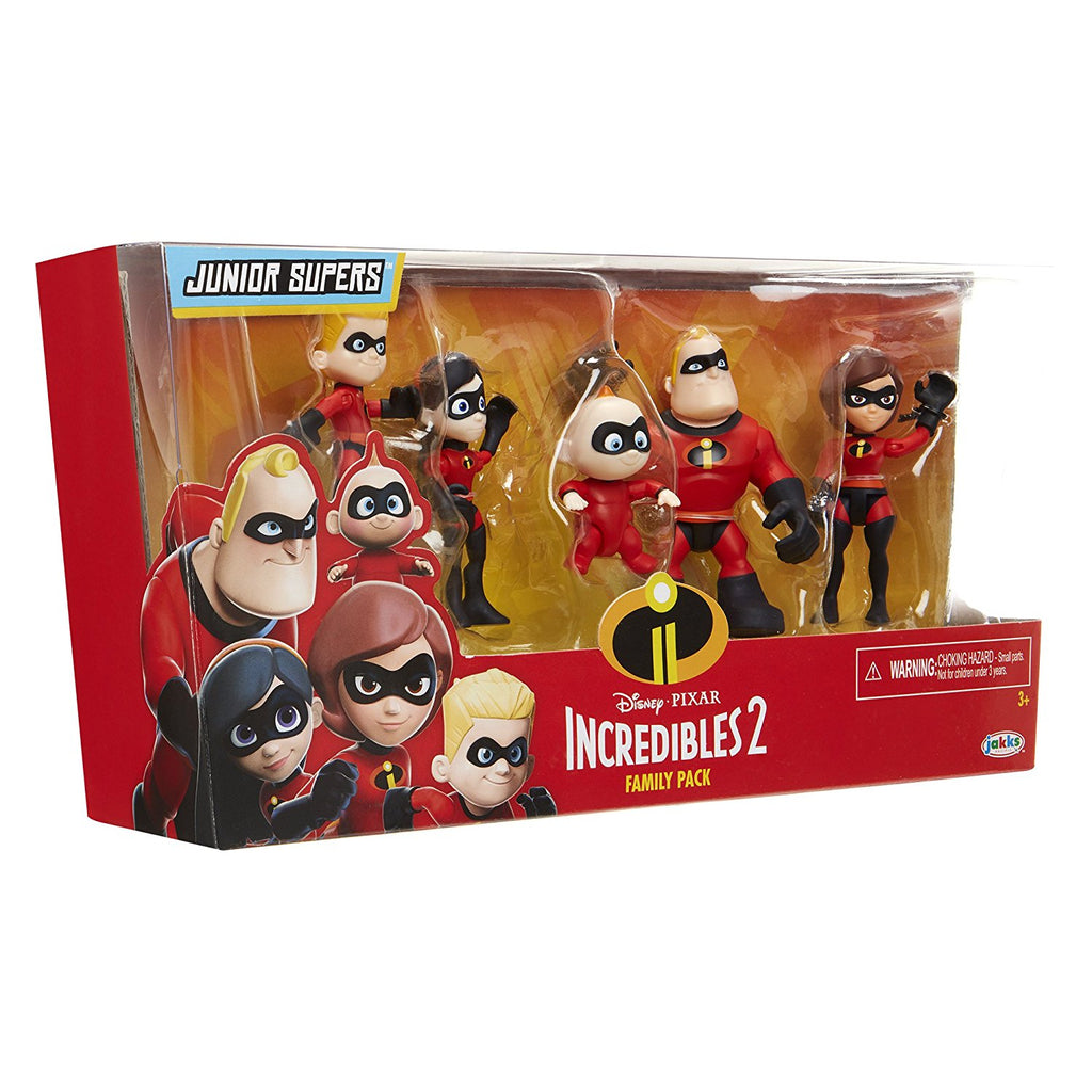 The Incredibles 2 Family 5-Pack Junior Supers Action Figures 039897767345