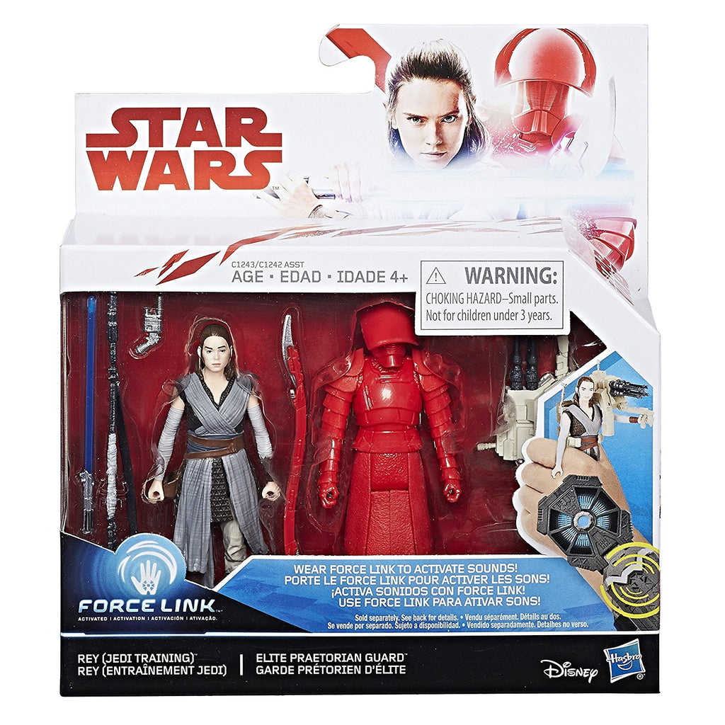 Star Wars: The Last Jedi Rey (Jedi Training) and Elite Praetorian Guard Figure 2-Pack 3.75 Inches Package