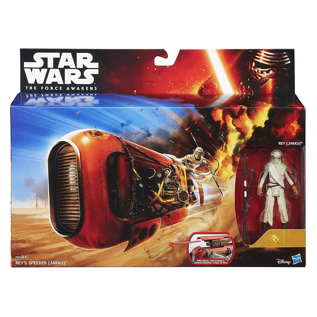 Star Wars The Force Awakens 3.75-inch Vehicle Rey's Speeder Bike (Jakku) 630509340576