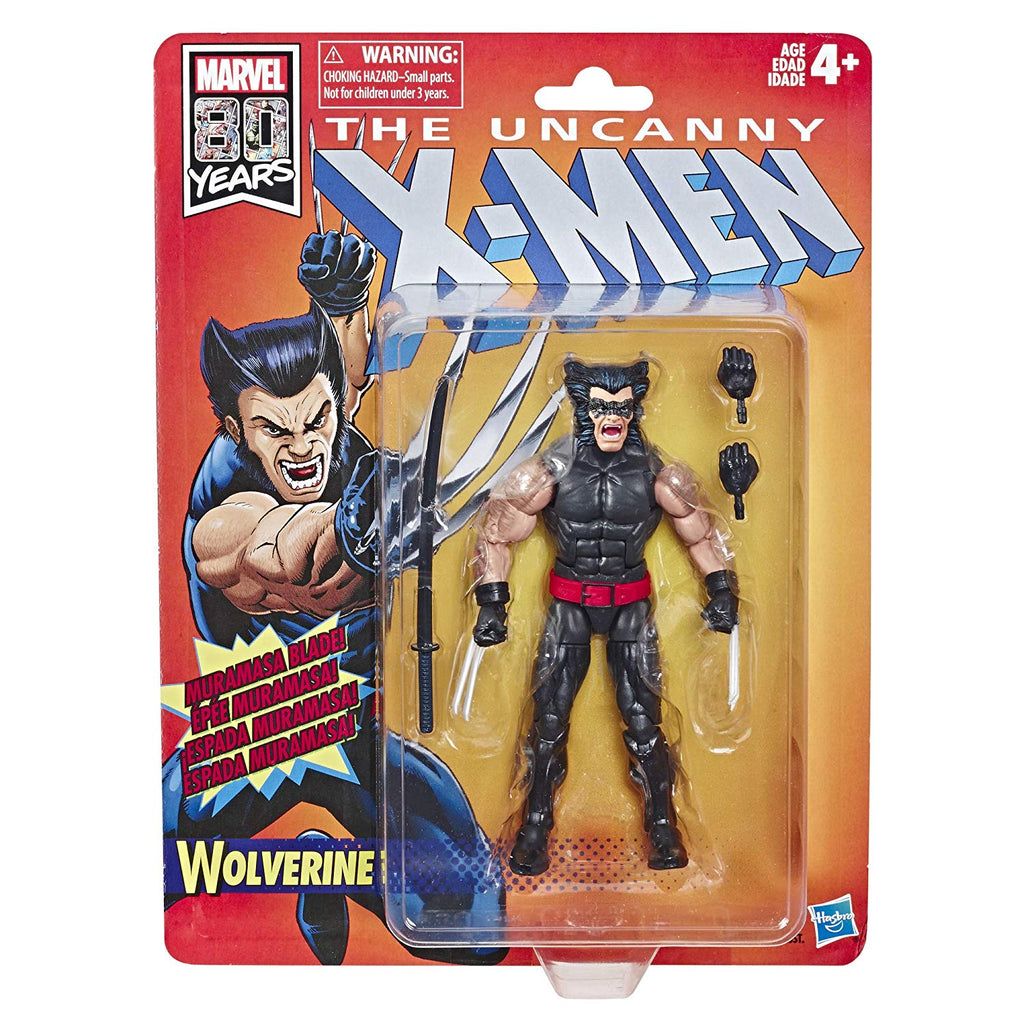 "X-Men Retro Marvel Legends Wolverine 6"" Action Figure 630509825684"