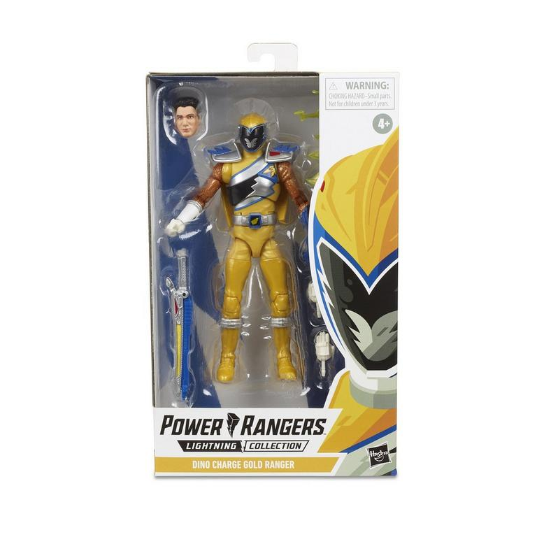 "Power Rangers Lightning Collection 6"" Dino Charge Gold Ranger 630509897285"