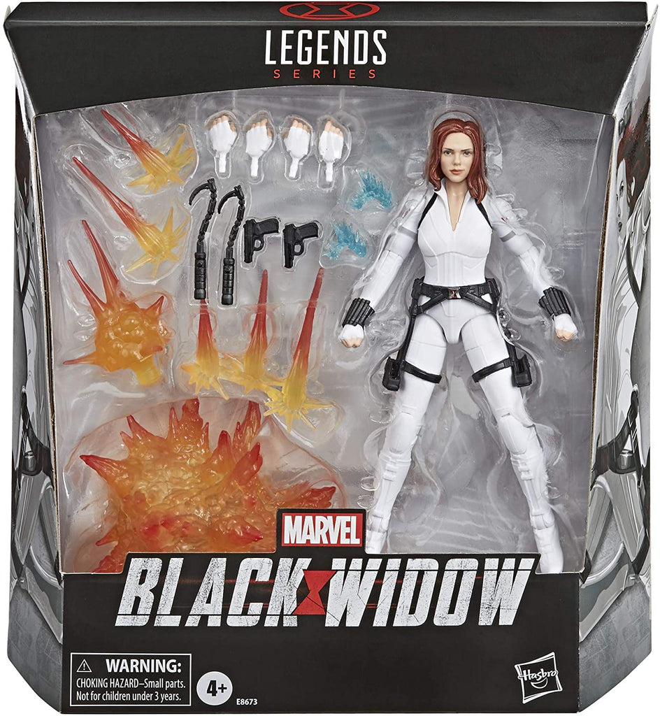 Marvel Legends Black Widow Deluxe White Costume Action Figure with Stand, 6-inch