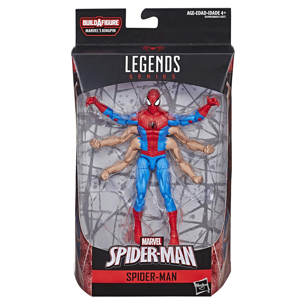 Marvel Legends Spider-Man Six-Arm Action Figure, 6 Inch 630509781782