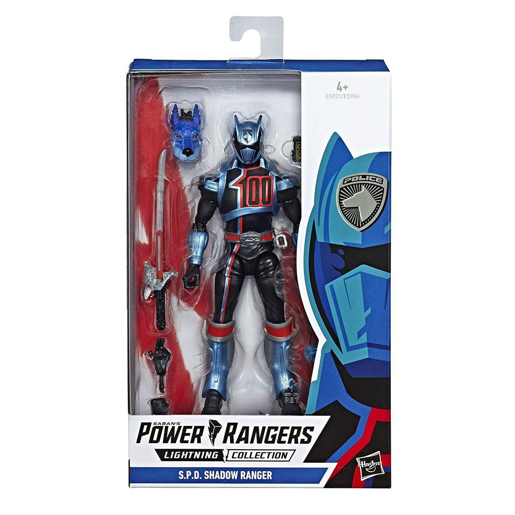 "Power Rangers Lightning Collection 6"" S.P.D. Shadow Ranger Action Figure 630509808380"