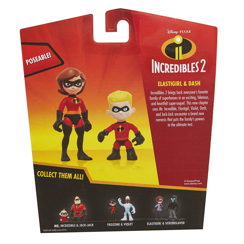 The Incredibles 2 Elastigirl & Dash Junior Supers Action Figure 2-Pack 3 Inch Action Figure 039897767161