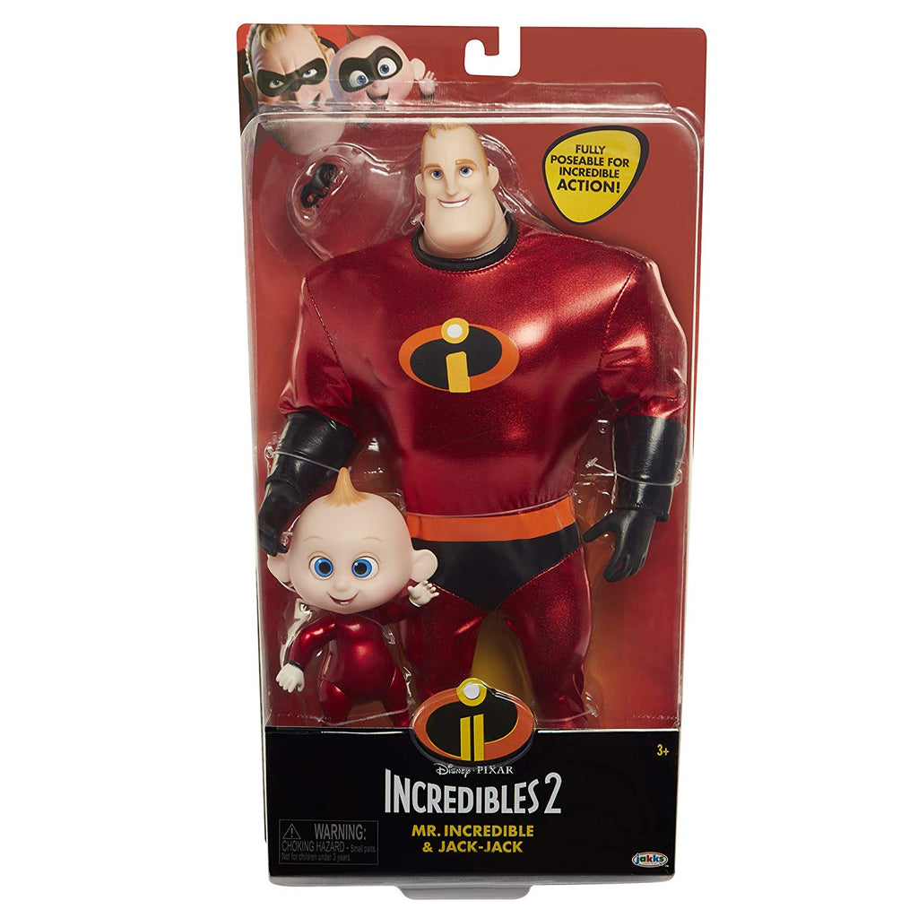 The Incredibles 2 Mr.Incredible & Jack-Jack Action Figure Pack 039897765976