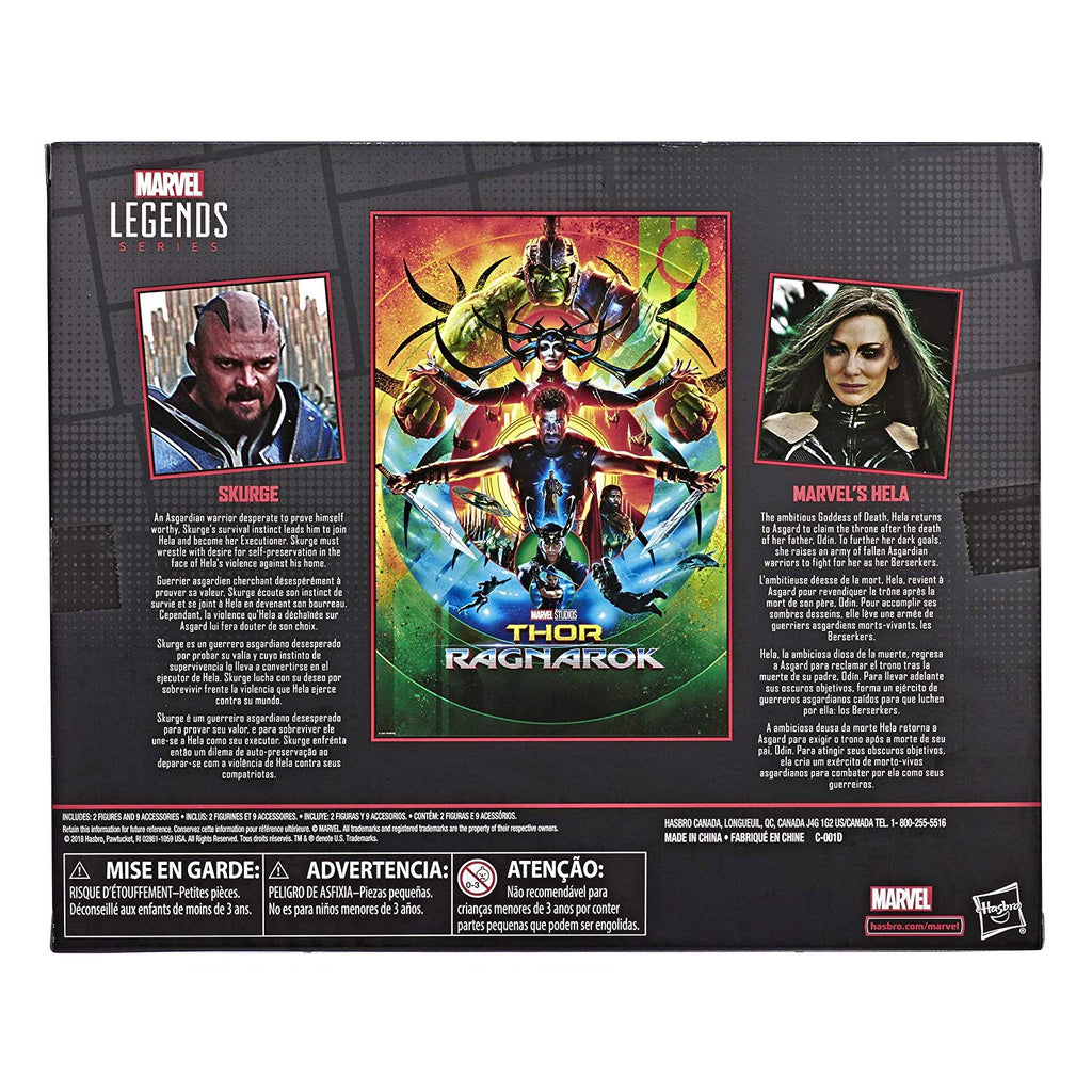 Marvel Legends Thor Ragnarok - Skurge and Hela Action Figures, 6-inch 630509833627