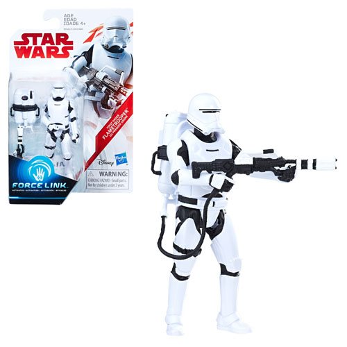 Star Wars: The Last Jedi First Order Flametrooper (Firing Pose) Force Link Figure 3.75 Inches 630509623136