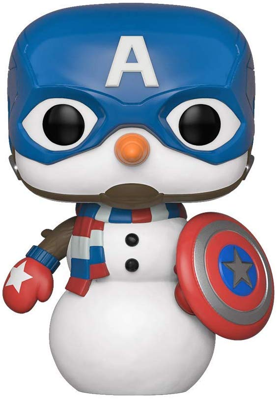 Funko Pop Marvel: Holiday Captain America Snowman Collectible Figure 889698433358
