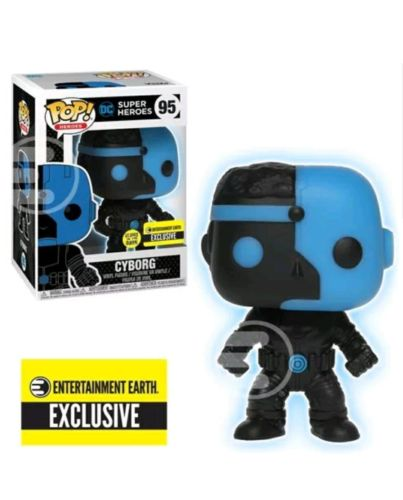 Funko Pop! Justice League Cyborg Silhouette GITD Pop! Figure - EE Excl. #95 889698247443