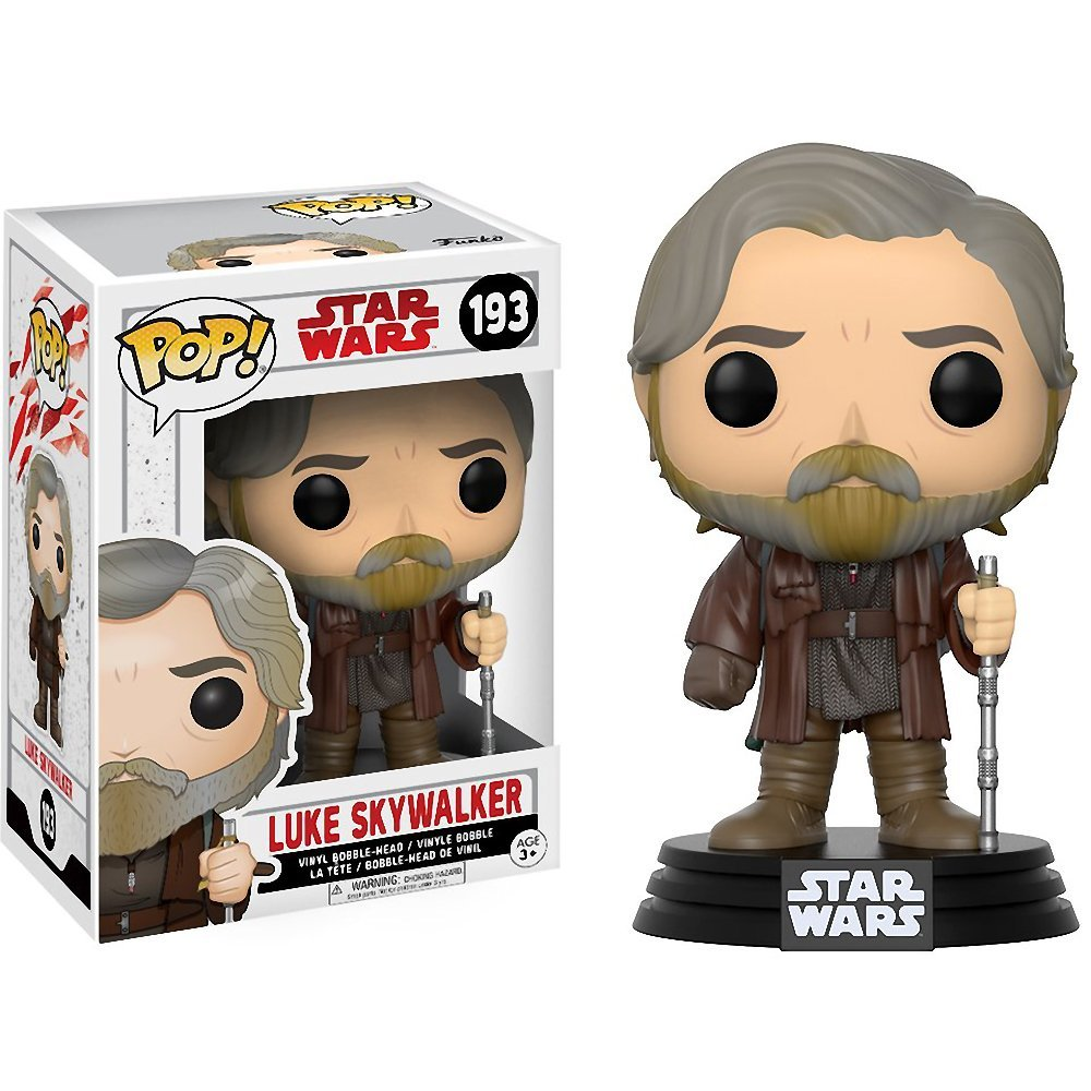 Funko Pop 193 Luke Skywalker box and figure