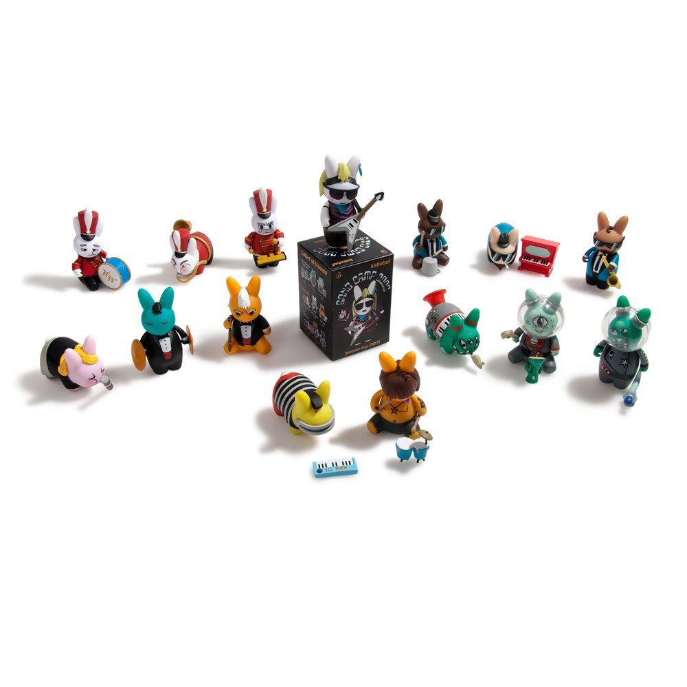 Kidrobot Labbit Band Camp Collectible Vinyl Mini Series Figure Blind Box figures