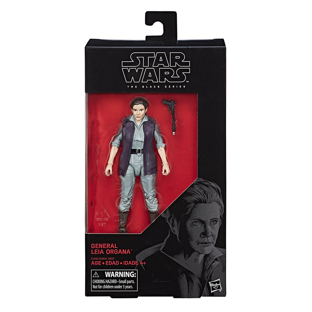 "Star Wars Episode 8 Black Series 6"" General Leia Organa Action Figure"