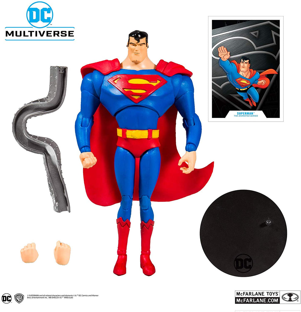 DC Multiverse DC Animated Superman: The Animated Series Superman 7-Inch Action Figure 787926155020