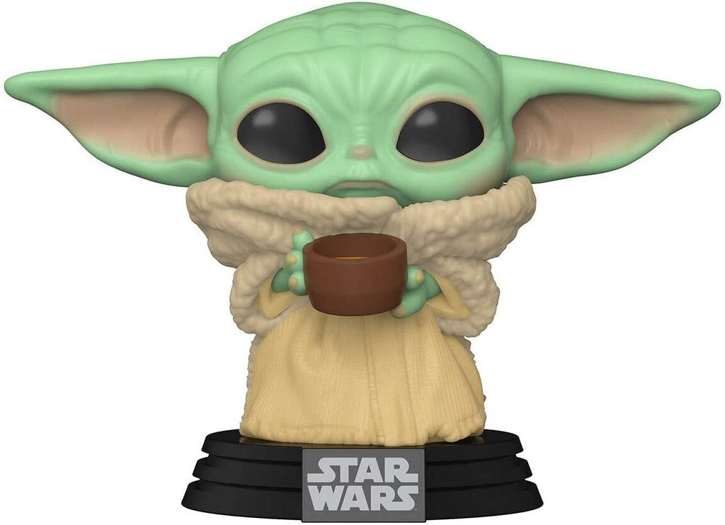 Funko POP! Star Wars The Mandalorian The Child with Cup Collectible Figure 889698499330