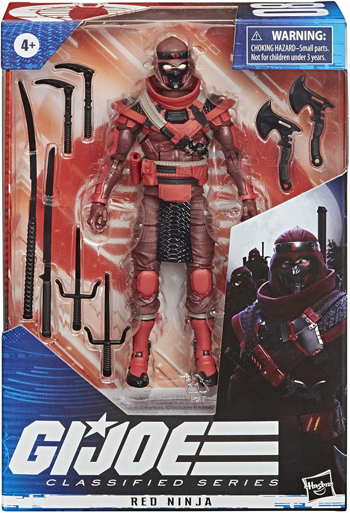 G.I. Joe Classified Series Red Ninja 6-Inch Action Figure 5010993725687