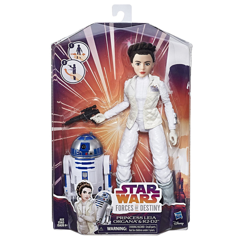 Star Wars Forces of Destiny Princess Leia Organa and R2-D2 Adventure Set in box