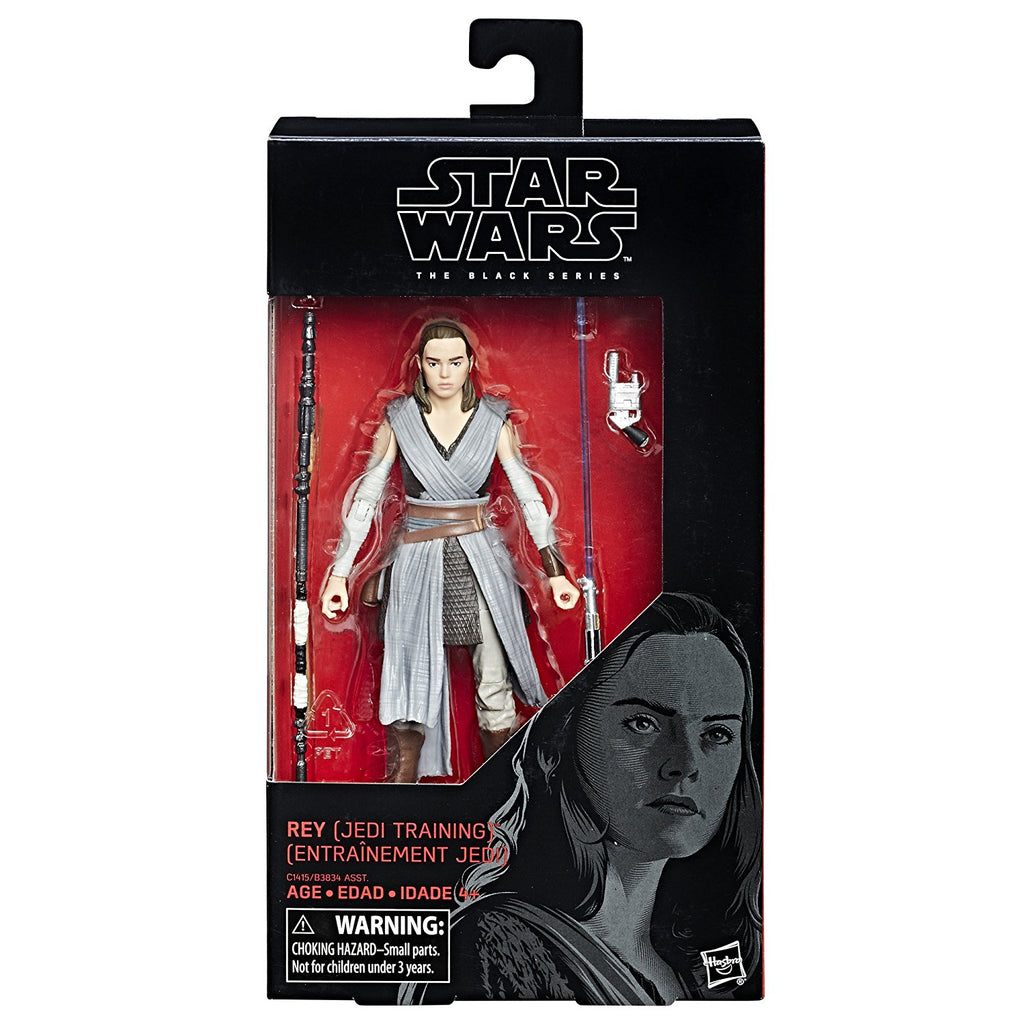 Star Wars The Black Episode 8 Series Rey (Jedi Training), 6-inch in box