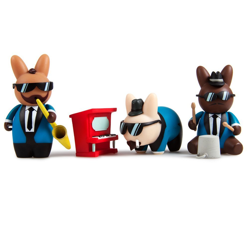 Kidrobot Labbit Band Camp: The Labbi-tones' Stumpy Lawler, Snaps Coleman, and Pails Davis