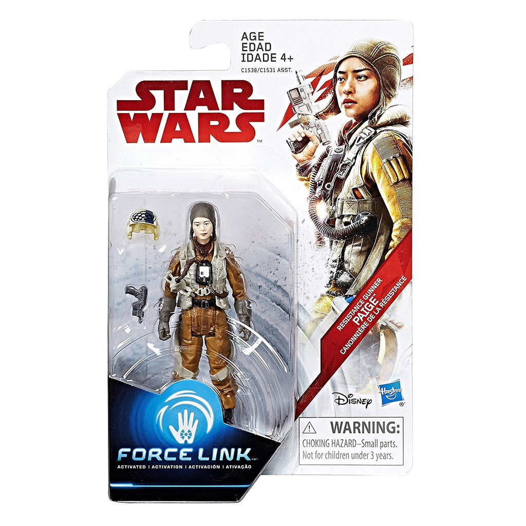 Star Wars: The Last Jedi Resistance Gunner Paige Force Link Figure 3.75 Inches Package