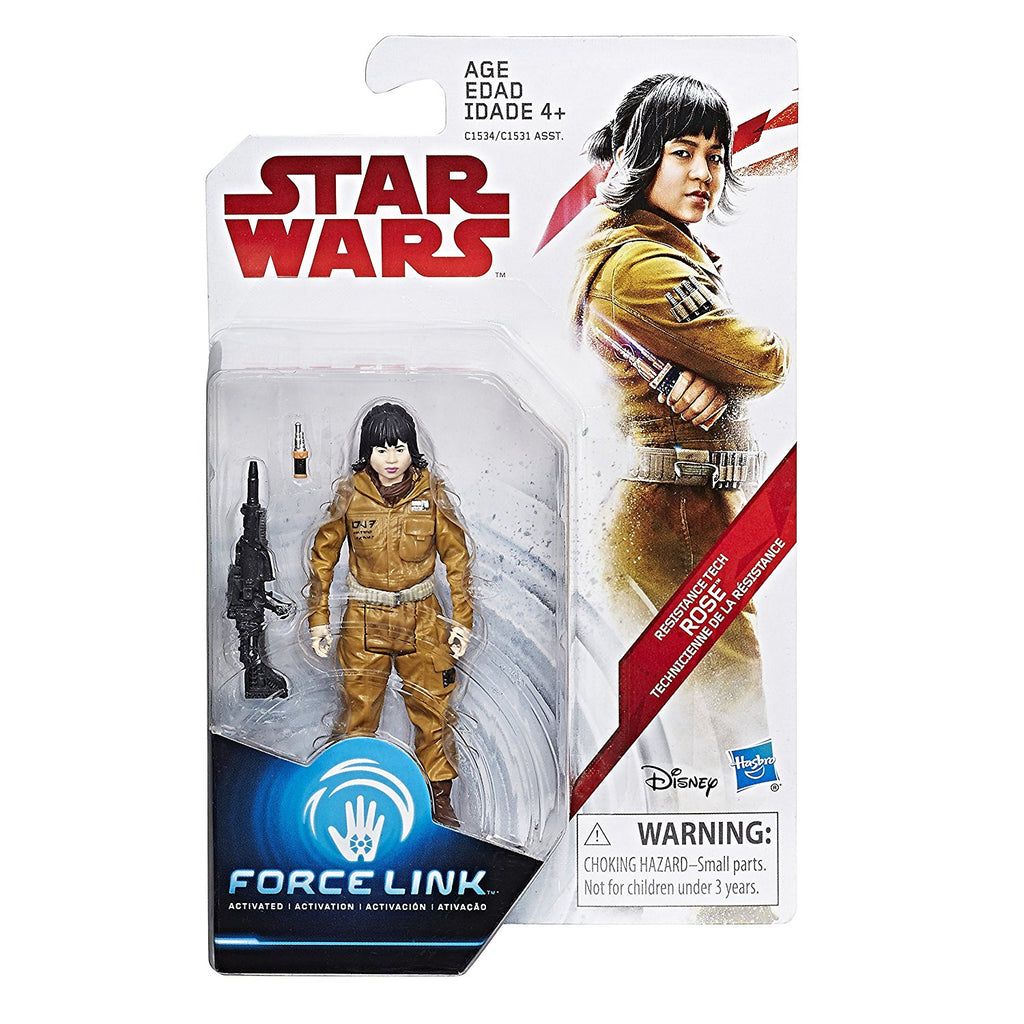 Star Wars: The Last Jedi Resistance Tech Rose Force Link Figure 3.75 Inches Package