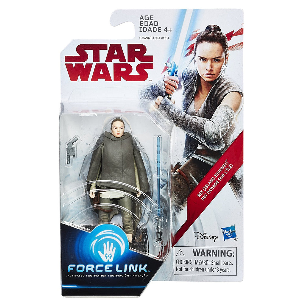 Star Wars: The Last Jedi Rey (Island Journey) Force Link Figure 3.75 Inches Package