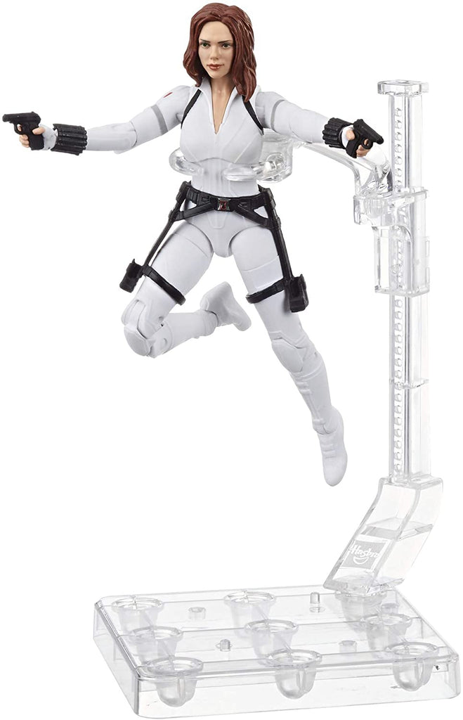 Marvel Legends Black Widow Deluxe White Costume Action Figure with Stand, 6-inch 5010993674213