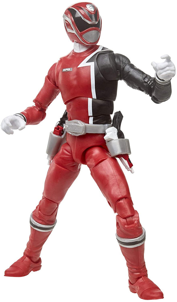 "Power Rangers Lightning Collection 6"" S.P.D. Red Ranger Action Figure 630509905256"