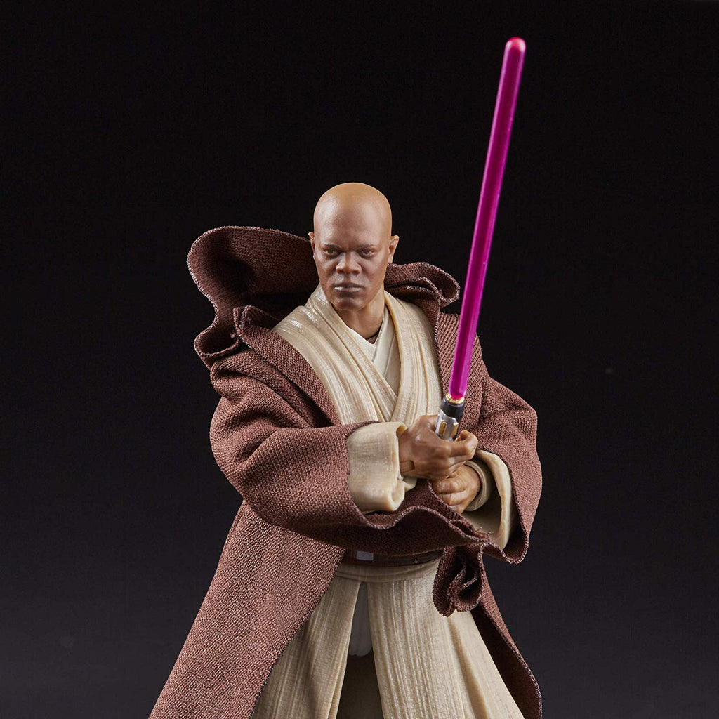 "Star Wars: The Phantom Menace Black Series 6"" Mace Windu 630509779857"