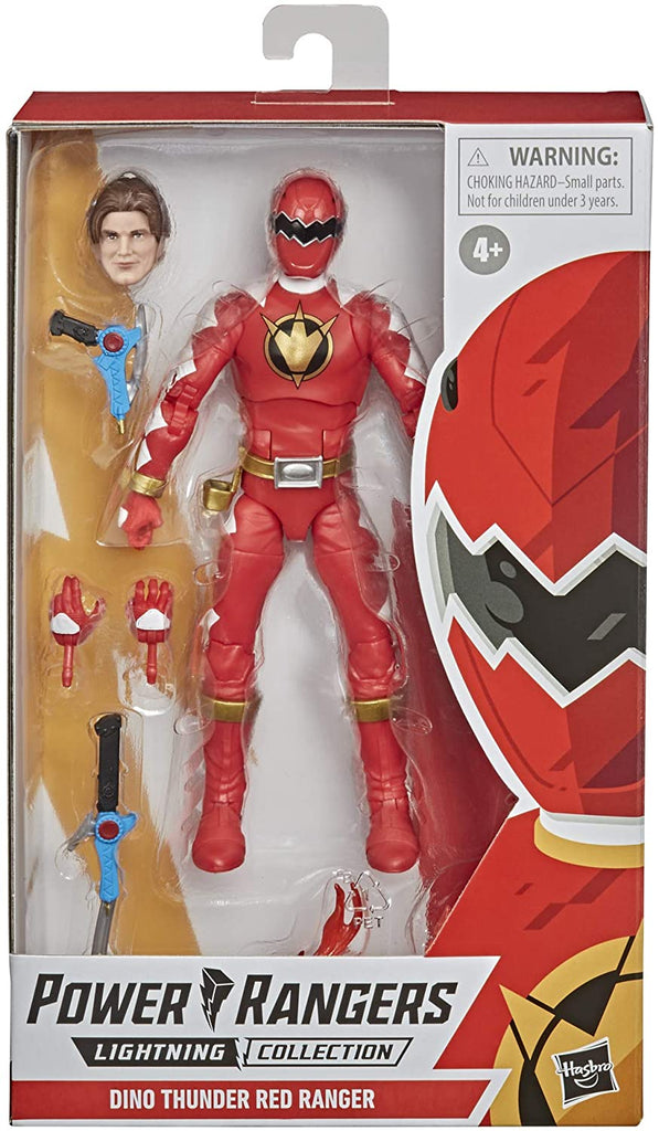 "Power Rangers Lightning Collection 6"" Dino Thunder Red Ranger Action Figure 630509986019"