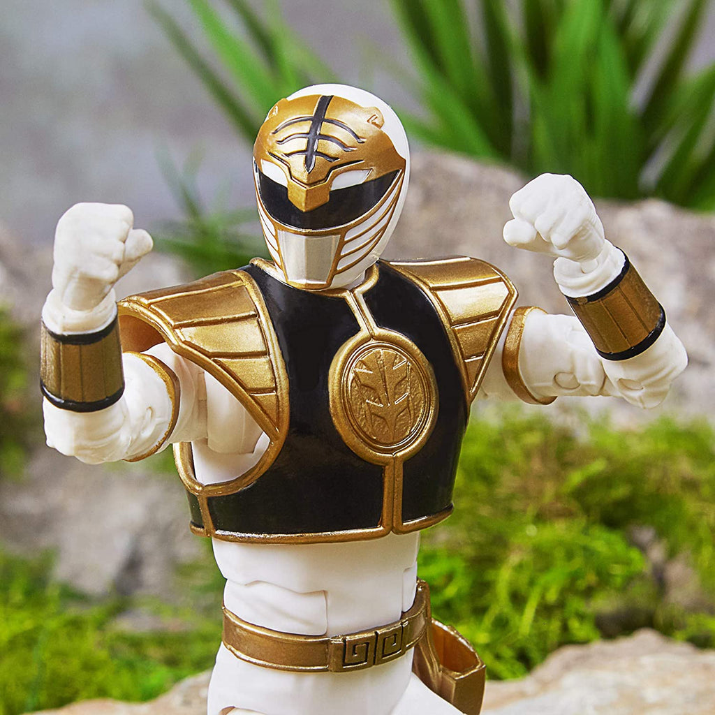 Power Rangers Lightning Collection 6 inch Mighty Morphin White Ranger 630509808366