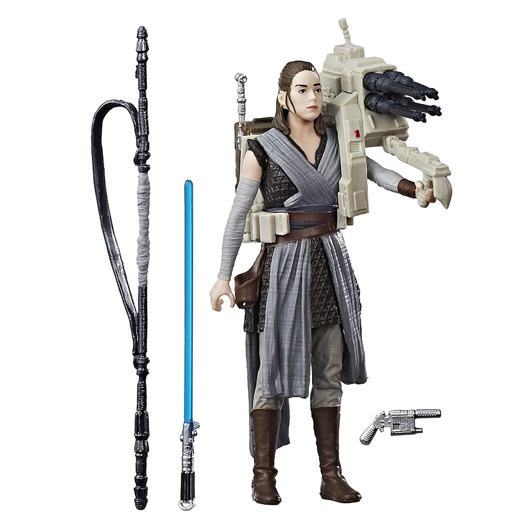Star Wars: The Last Jedi Rey (Jedi Training) with accessories