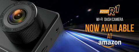 Rove R1 wifi dash cam launch on Amazon