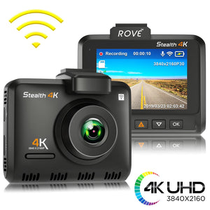 Rove Stealth 4K Dash Cam Ultra-HD 3840*2160p Built-In Wi-Fi & GPS