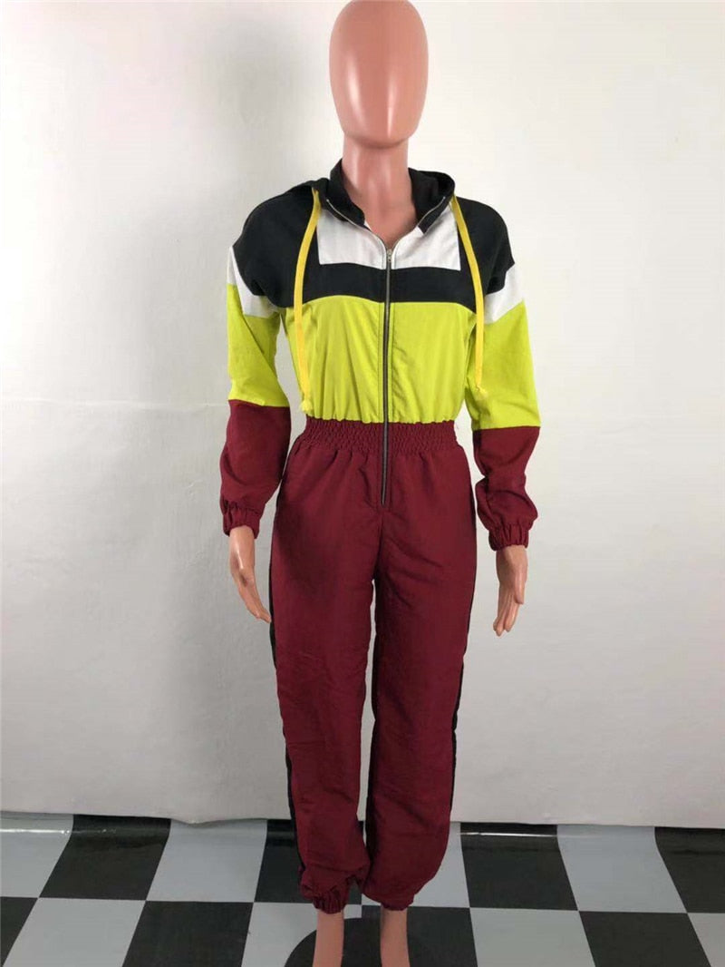 45ce15f47388 Colored in Patchwork Hooded Jumpsuit – Casual Contempo