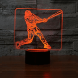 Baseball Player 3D Illusion Lamp