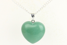 Collection Youth - Pendentif coeur Aventurine verte