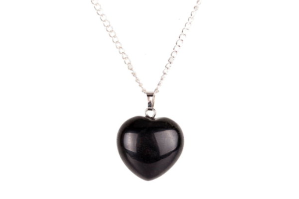 Collection Youth - Pendentif coeur Obsidienne