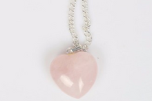 Collection Youth - Pendentif coeur Quartz Rose