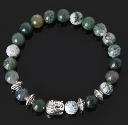 Collection Serenity - Bracelet Aquatique Agate