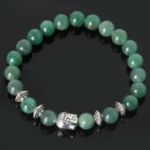 Collection Serenity - Bracelet Aventurine verte et Bouddha
