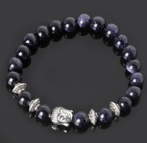 Collection Serenity - Bracelet Blue Sand et Bouddha