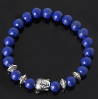 Collection Serenity - Bracelet Lapis-Lazuli et Bouddha