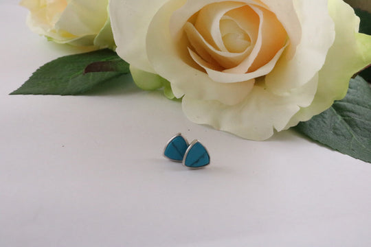 Collection Smile - Boucles d'oreilles triangles Turquoise